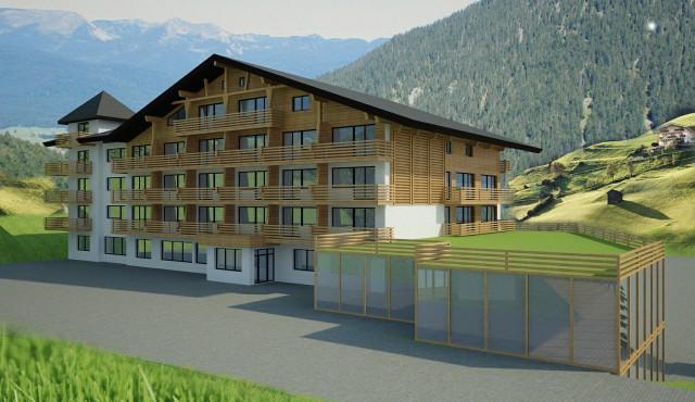 Alpenhaus Katschberg, Fassade
